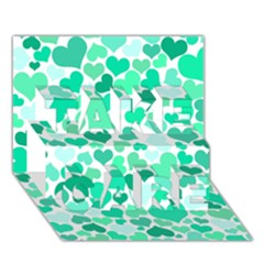 Heart 2014 0916 TAKE CARE 3D Greeting Card (7x5)