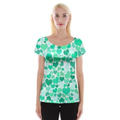 Heart 2014 0916 Women s Cap Sleeve Top