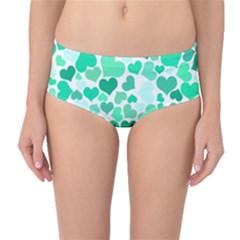 Heart 2014 0916 Mid-Waist Bikini Bottoms