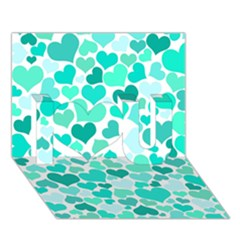 Heart 2014 0917 I Love You 3D Greeting Card (7x5)