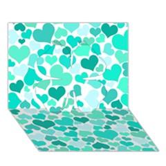 Heart 2014 0917 Clover 3D Greeting Card (7x5)