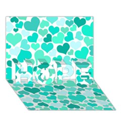 Heart 2014 0917 HOPE 3D Greeting Card (7x5)