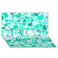 Heart 2014 0917 ENGAGED 3D Greeting Card (8x4)