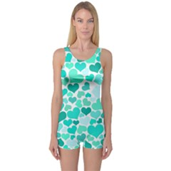 Heart 2014 0917 Women s Boyleg One Piece Swimsuits