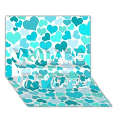 Heart 2014 0918 YOU ARE INVITED 3D Greeting Card (7x5)