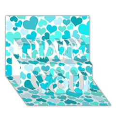 Heart 2014 0918 Thank You 3d Greeting Card (7x5)
