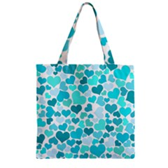 Heart 2014 0918 Zipper Grocery Tote Bags