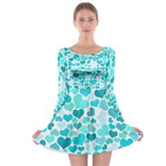 Heart 2014 0918 Long Sleeve Skater Dress
