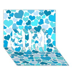 Heart 2014 0919 GIRL 3D Greeting Card (7x5)