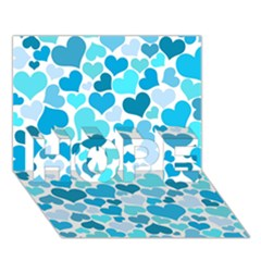 Heart 2014 0919 Hope 3d Greeting Card (7x5)