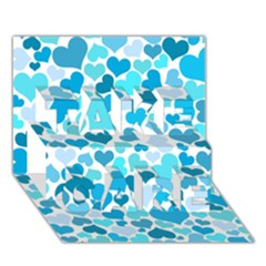 Heart 2014 0919 TAKE CARE 3D Greeting Card (7x5)