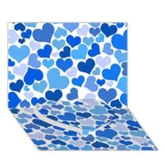 Heart 2014 0921 Heart Bottom 3d Greeting Card (7x5)