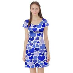 Heart 2014 0923 Short Sleeve Skater Dresses