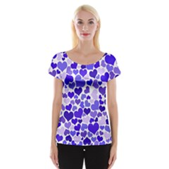 Heart 2014 0925 Women s Cap Sleeve Top