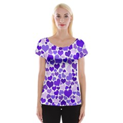 Heart 2014 0926 Women s Cap Sleeve Top
