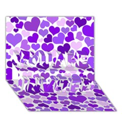 Heart 2014 0927 You Are Invited 3d Greeting Card (7x5)