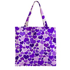 Heart 2014 0927 Zipper Grocery Tote Bags