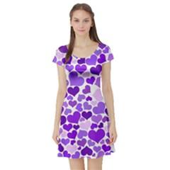 Heart 2014 0927 Short Sleeve Skater Dresses