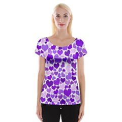 Heart 2014 0927 Women s Cap Sleeve Top