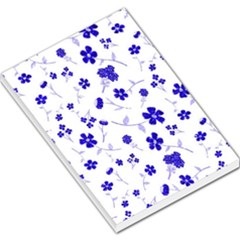 Sweet Shiny Flora Blue Large Memo Pads