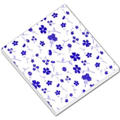 Sweet Shiny Flora Blue Small Memo Pads