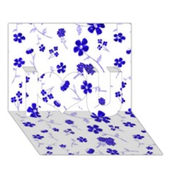 Sweet Shiny Flora Blue I Love You 3D Greeting Card (7x5)