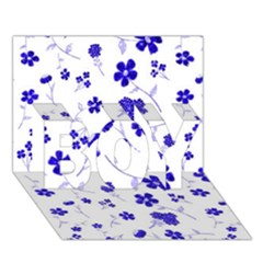 Sweet Shiny Flora Blue BOY 3D Greeting Card (7x5)