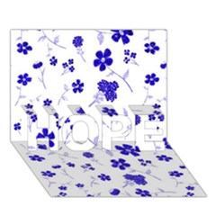 Sweet Shiny Flora Blue HOPE 3D Greeting Card (7x5)