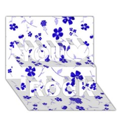 Sweet Shiny Flora Blue You Rock 3d Greeting Card (7x5)
