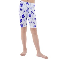Sweet Shiny Flora Blue Kid s swimwear