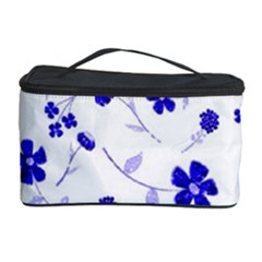 Sweet Shiny Flora Blue Cosmetic Storage Cases