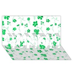Sweet Shiny Floral Green #1 MOM 3D Greeting Cards (8x4)