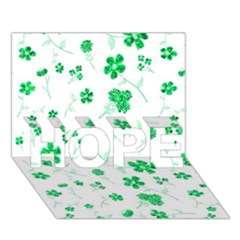Sweet Shiny Floral Green Hope 3d Greeting Card (7x5)