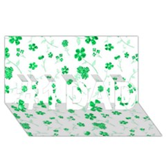 Sweet Shiny Floral Green #1 DAD 3D Greeting Card (8x4)