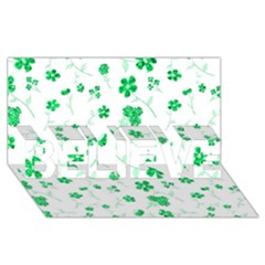 Sweet Shiny Floral Green BELIEVE 3D Greeting Card (8x4)