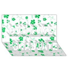 Sweet Shiny Floral Green Congrats Graduate 3D Greeting Card (8x4)