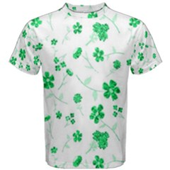 Sweet Shiny Floral Green Men s Cotton Tees