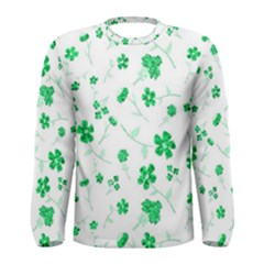 Sweet Shiny Floral Green Men s Long Sleeve T Shirts