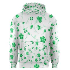 Sweet Shiny Floral Green Men s Pullover Hoodies