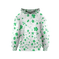 Sweet Shiny Floral Green Kid s Pullover Hoodies