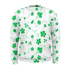 Sweet Shiny Floral Green Men s Sweatshirts