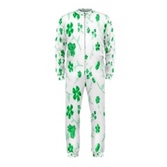 Sweet Shiny Floral Green OnePiece Jumpsuit (Kids)