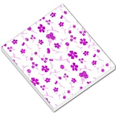 Sweet Shiny Floral Pink Small Memo Pads