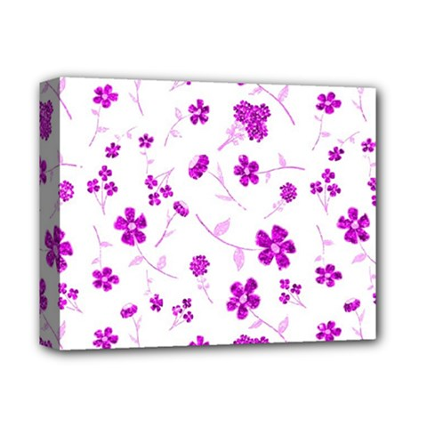 Sweet Shiny Floral Pink Deluxe Canvas 14  X 11
