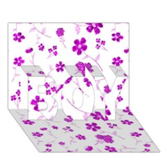Sweet Shiny Floral Pink BOY 3D Greeting Card (7x5)