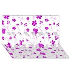 Sweet Shiny Floral Pink #1 Mom 3d Greeting Cards (8x4)