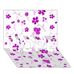 Sweet Shiny Floral Pink Hope 3d Greeting Card (7x5)