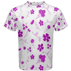 Sweet Shiny Floral Pink Men s Cotton Tees