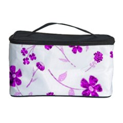 Sweet Shiny Floral Pink Cosmetic Storage Cases