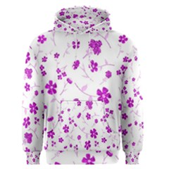 Sweet Shiny Floral Pink Men s Pullover Hoodies